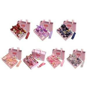 18PCS Childs Hair Bobbles Clips Bows Kids Hair Accessories Gift Boxed Set