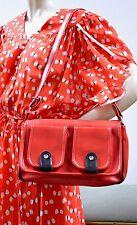 Tasche Handtasche handbag bag rot schwarz 60er True VINTAGE 60s Umhängetasche