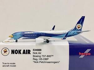 """Herpa Wings Nok Air Boeing 737-800 """"Nok Petchnaamngern"""" 1:500 HS-DBP 534888"""