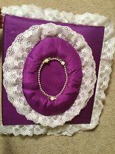 Vintage Purple Satin Lace Cloth Photo Album Floral Padded Handmade Scrapbook