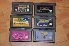 Nintendo Game Boy Advance 6 Game Bundle Lot Star Wars Sonic 3 Dogz Disney Zapper