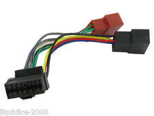 JVC 16 PIN CAR STEREO RADIO ISO LEAD WIRING HARNESS CONNECTOR ADAPTOR CABLE LOOM