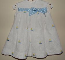 "Little Girls Boutique ""Fantasia Too"" Embroidered Sailboat Dress Size 6M"