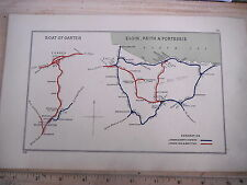 BOAT OF GARTEN ELGIN FORRES KEITH BANFF LOSSIEMOUTH DUFFTOWN  RAILWAY MAP 1928