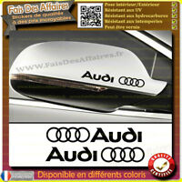 2 Stickers Autocollant audi A1 A2 A3 A4 A5 Q3 Q5 Q7 R8 TT RETROVISEUR decal