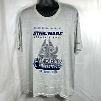 Disney Parks Men's 3XL Star Wars Galaxy's Edge Opening Day Passholder T Shirt