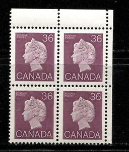 CANADA 1987, QUEEN 36 CENTS PLUM, PLATE BLOCK UPPER RIGHT,  Scott 926A MNH