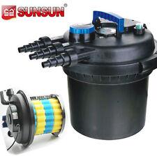 5000 Gal Pressure Bio Filter w/ 18W UV Sterilizer Light Koi Fish Pond Pump USA