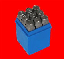 9 tlg. Qualitäts Schlagzahlen Satz Gr. 2mm / Schlagstempel Einschlagzahlen 0-9