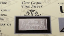 (x20) ACB 2018 MERRY CHRISTMAS 1 Gram Bar 999 Fine SILVER with COA Great Gifts+