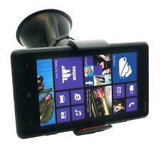 Supporto universale auto ventosa vetro parabrezza pinze per Nokia Lumia 620 Nero