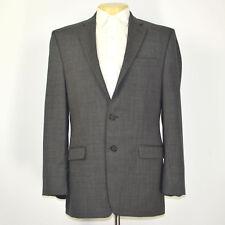 Mint RALPH LAUREN Sharkskin 100% Wool Gray Two Button Blazer Sport Coat Sz 42L