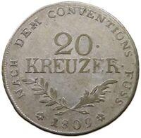 AUSTRIA 20 KREUZER 1809 TIROL ANDREAS HOFFER   #t54 245