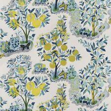 Schumacher Citrus Garden Linen Fabric