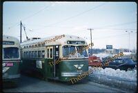 Philadelphia Trolley PTC 1960s 35mm Slide Kodachrome Original Gimbels Street Car