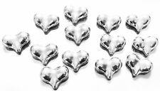 32 Silver Plated Acrylic Fancy puffy Heart Shape Tibetan Beads-Jewelry Supplies
