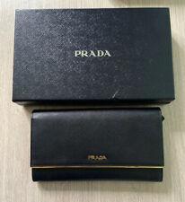Prada Saffiano Leather Clutch / Travel Purse / Long Wallet. Authentic