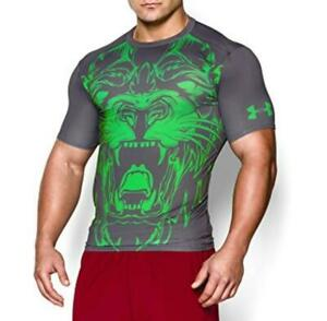 under armour hg alter ego mens compression short sleeve shirt beast lion green M