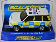 5 ) Scalextric C2808 Slotcar 1:32 Range Rover Police Car mit Licht Sirene in OVP