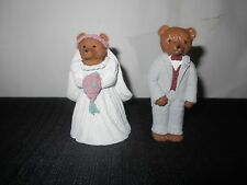 Resin Bears Bride and Groom Cake Toppers