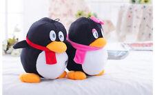 a pair of cute QQ penguin toys plush QQ girl and QQ boy dolls gift about 20cm