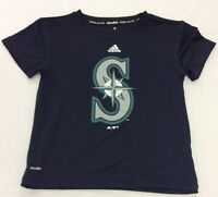 Adidas Kids T-Shirt Climalite Performance MLB Seattle Mariners Logo