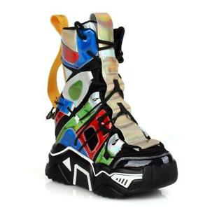 Anthony Wang Damson-09 Hidden Wedge High Top Platform Sneakers