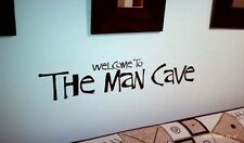 "Wall Art The Man Cave Wall Decal, sticker 23""long, Basements Pubs Clubs lounge"