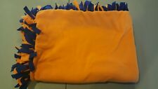 no sew fleece blanket orange & blue