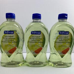 3 X Softsoap Crisp Cucumber & Juicy Melon  28oz