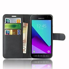 Case Cover For Samsung Galaxy Xcover 4s magnetic Flip Leather Wallet Card phone