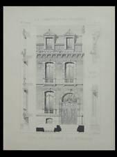ROUBAIX, HOTEL E. BOSSUT - 1894 - PLANCHE ARCHITECTURE - BRUNEAU