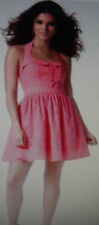 Womens 6 MISS SIXTY M60 CORAL PINK HALTER BABYDOLL DRESS 60 eyelet fit & flare