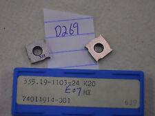 10 NEW SECO 335.19-1103-24 CARBIDE INSERTS. GRADE: HX  K20 {D269}