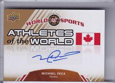 2010 UPPER DECK #AW-98 MICHAEL PECA AUTOGRAPH TEAM CANADA 1274