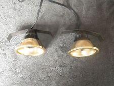 2 Gold rim Lamp Furniture Under Cabinet Lights w switch Inset Recessed Link HZ