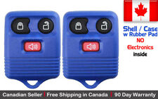 2x New Replacement Keyless Entry Blue Remote Key Fob For Ford Shell / Case
