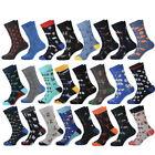 Fashion Mens Combed Cotton Socks Funny Animal Novelty Casual Dress Big Size Sock