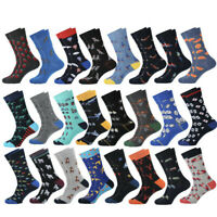 Fashion Mens Combed Cotton Socks Funny Animal Novelty Casual Dress Big Size Sock