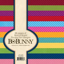 1 BLOCCO DI 36 FOGLI STAMPATI 15X15 CM POIS Bo Bunny SCRAPBOOKING PAPER PAD