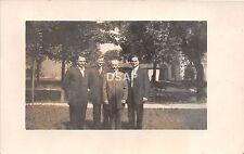 Ohio Postcard Real Photo RPPC c1910 LIMA Allen County MEN in Suits