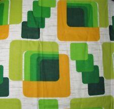 "Mid century 2 PANELS curtains drapes VINTAGE 1960s Cubic Modern 84"" x 25.5"""