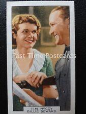 Single: Tim McCoy & Billie Seward No.18 'FILM PARTNERS' Gallaher Pub 1935