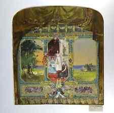 original Gouache auf Karton Hamburger Maler signiert Otto Schmarje 1895 19. Jh.