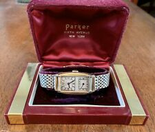 Parker Duo Dial Doctors Wrist Watch 10k Rolled Gold with Kreisler Band And Box