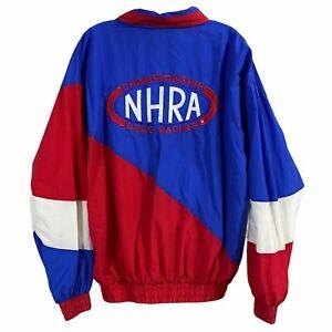Vintage NHRA Drag Racing Embroidered Spellout Jacket Nascar 90s Men's Medium M