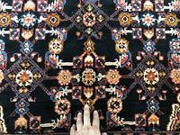 5x7 DARK BLUE VINTAGE RUG HAND KNOTTED oriental ANTIQUE HANDMADE carpet 5x6 5x8