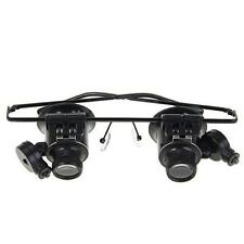 Binocular Glasses Type 20X Watch Jewellery Repair Magnifier with LED Light X @MN