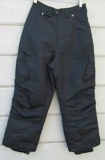 Suisse Sport Black Gray Windowpane Plaid Snow Ski Board Cargo Pants Youth 10