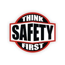 Think Safety First Safe Worker Helmet Toolbox Bike Hard Hats Decal Sticker Label